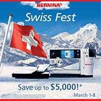 Bernina Swiss Fest promotion banner
