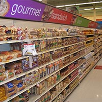 Bread aisle designed with contemporary style
