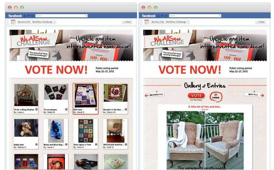 BERNINA Facebook marketing campaign