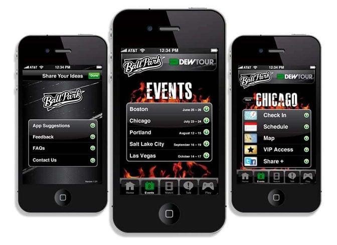 BallPark event mobile app