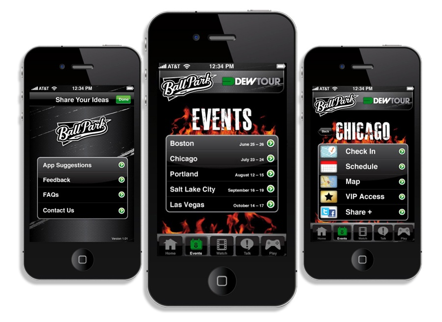 BallPark event mobile app