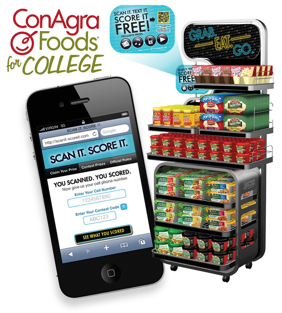 """ConAgra """"Foods for College"""" millennial branding campaign"""