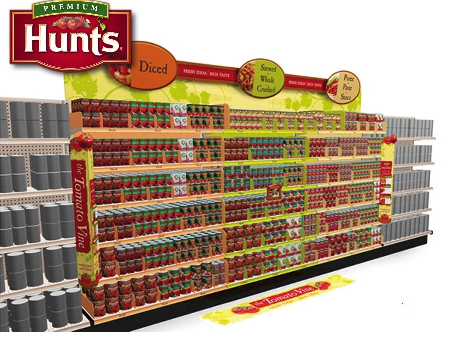 Hunt's retail display design