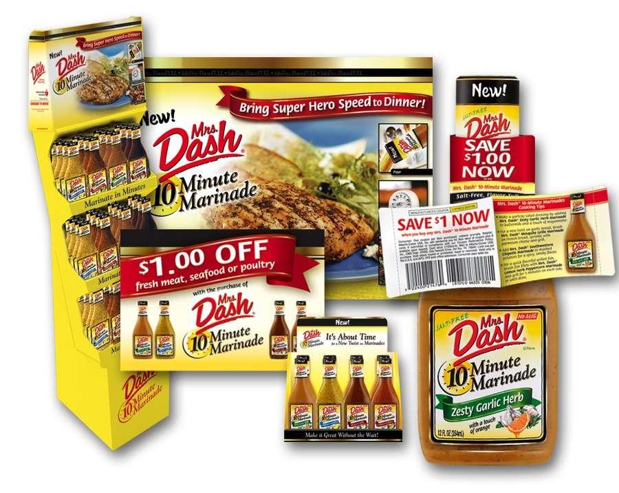 Mrs. Dash shipper display and shopper marketing