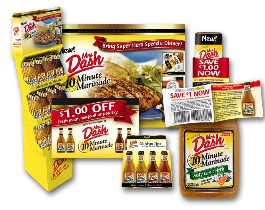 Mrs. Dash shipper display and shopper marketing