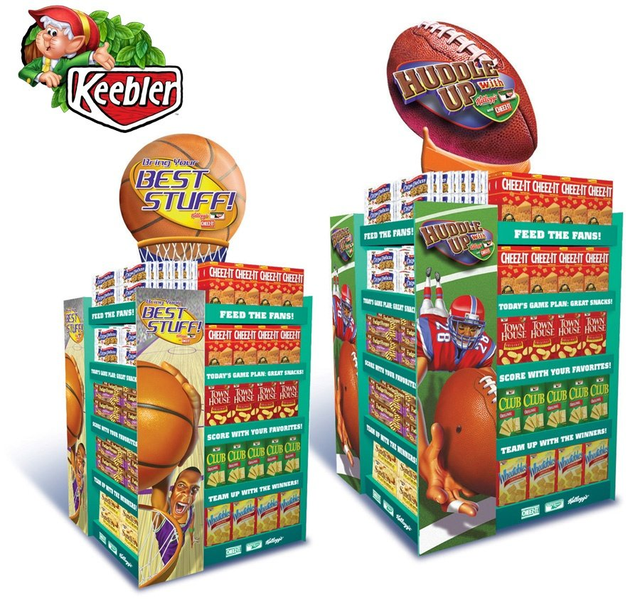 "Keebler ""Feed the Fans"" endcap display"