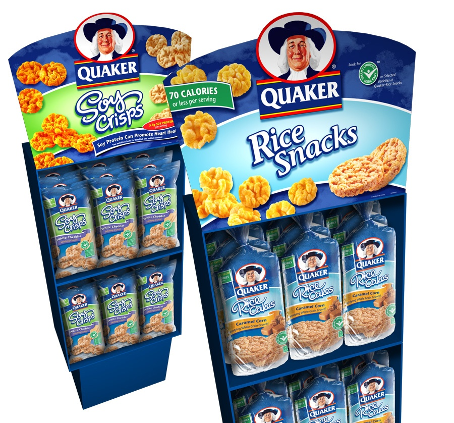 Quaker retail display design