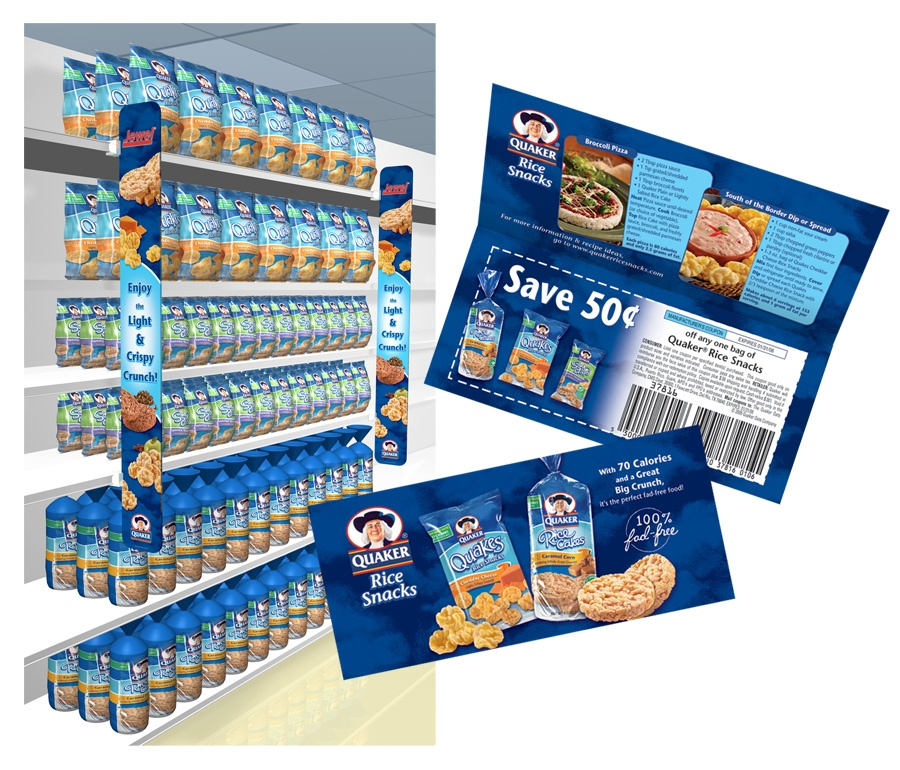 Quaker food packaging and shopper marketing