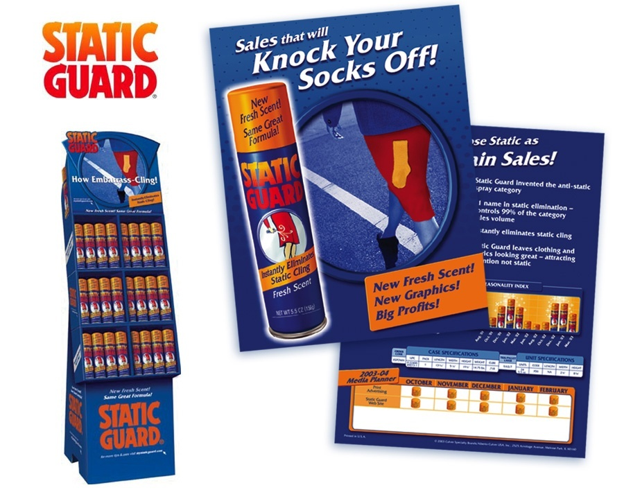 Static Guard retail display design